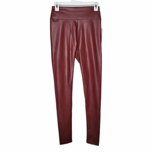 Wild Fable Maroon Faux Leather Leggings
